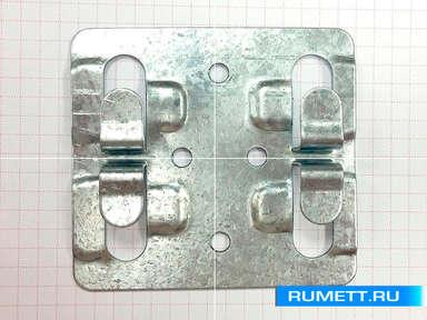 Кляммер рядовой 1 мм из оцинкованной стали ККР