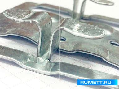 Кляммер рядовой 1 мм из оцинкованной стали ККР Декот XXI