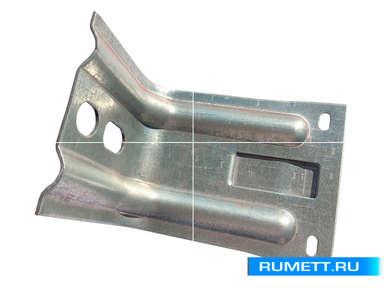 Кронштейн крепежный усиленный ККУ 200x80x95 оцинкованная сталь 2 мм