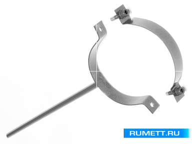 Крепление трубы (сварное) диаметр 90 мм