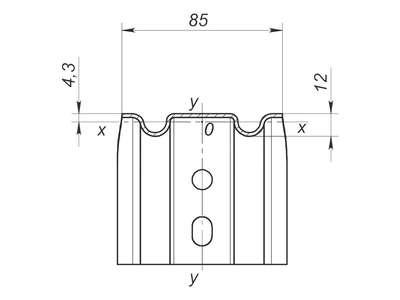Фасадный кронштейн усиленный ККУ 120x90x105 оцинкованная сталь 2 мм