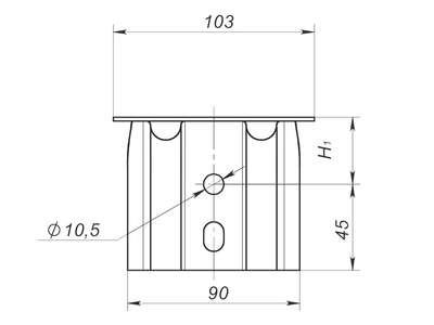 Фасадный кронштейн усиленный ККУ 90x80x105 оцинкованная сталь 2 мм