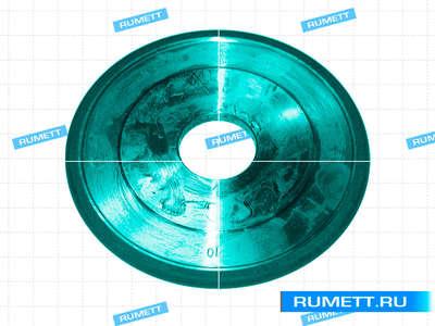 Круг алмазный 1FF1 (плоский, полукругло-выпуклыйпрофиль) 150х10х4х5х32 R5,0 АС4 100/80 100% В2-01 74 карат