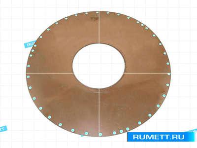 Круг отрезной алмазный с внутренней режущей кромкой АВРК 422х152х0,30х76 АС6Н 50/40 6,3 карат