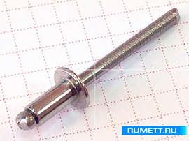 Вытяжная заклепка 4,8x10 А2/А2 (нерж/нерж)