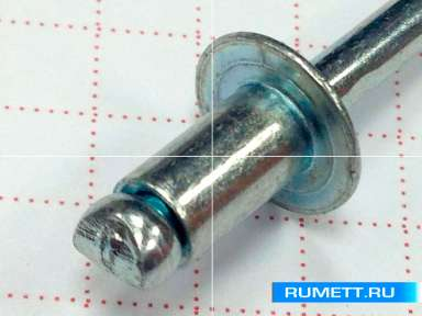 Заклёпка вытяжная 4,8x8 мм оцинкованная сталь ST