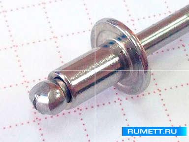 Заклёпка вытяжная 4,8x8 A2 нержавеющая сталь