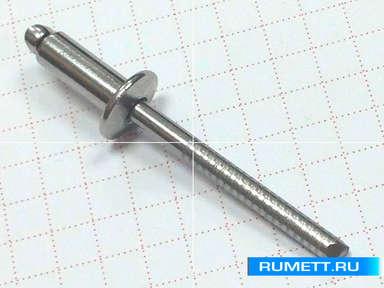 Заклёпка вытяжная 4x10 A2 нержавеющая сталь