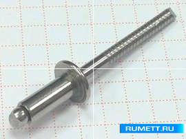 Вытяжная заклепка 4x10 А2/А2 (нерж/нерж)