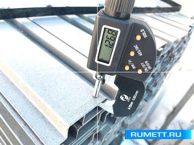 Шляпный П-образный профиль 50x20x20 оцинкованная сталь 1,2 мм