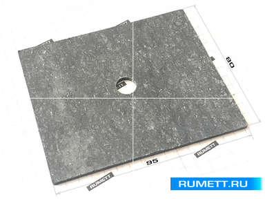 Паронитовая прокладка 80x95 толщина 2 мм