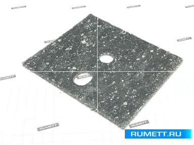 Паронитовая прокладка 80x95 мм c двумя отверстиями