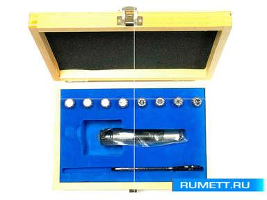 """Патрон Цанговый с хвостовиком R8 (7/16""""- 20UNF) с набором цанг ER16 из 8шт (3-10мм)"""