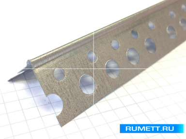 Перфорированный уголок - Профиль ПУ 25*25 - 0,33 мм