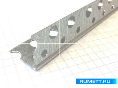 Профиль ПУ 20х20 толщина 0,25 мм (Перфорированный уголок)