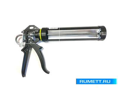 Пистолет под герметики и клеи PRO черный (106617) SOUDAL