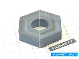 Пластина HNUM - 110408 МС3210 шестигранная dвн=6  мм(11114) со стружколомом