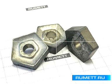 Пластина PNUM - 110408 ВК8(В35) пятигранная dвн=5  мм (10114) со стружколомом
