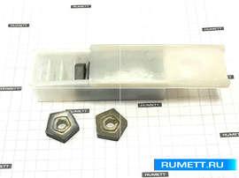 Пластина PNUM - 130412 Т15К6 (Н10) пятигранная dвн=8  мм (10114) со стружколомом