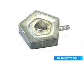 Пластина PNUM - 130612 Т15К6 (Н10) пятигранная dвн=8  мм (10114) со стружколомом