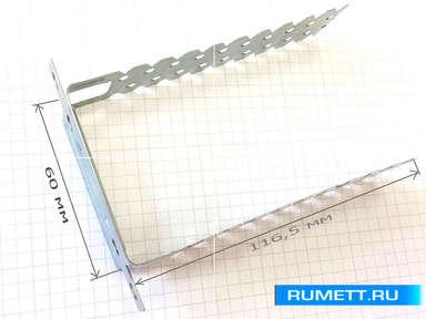Подвес прямой толщиной 1,0 мм профиль 60х27