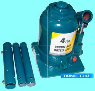 Домкрат 2-х плунжерный грузоподъёмность 4,0 тонн (высота подъёма 160-330мм) (TF0402) марки CNIC (фасовка 4 шт)