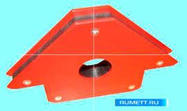 Магнитный угловой шаблон-держатель сварщика 110х110х25 мм, усилие отрыва 30кг марки CNIC (НV-А-I)