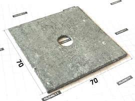 Паронитовая прокладка 70х70 толщина 2 мм