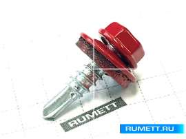 Окрашенный кровельный саморез 4,8х19 мм RAL 3003