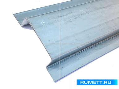 Шляпный П-образный профиль 65x22x20 оцинкованная сталь 1,2 мм