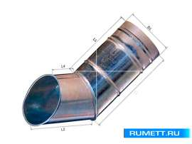 Колено сливное (отмет) диаметр 90 мм