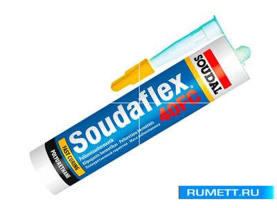 Полиуретановый клей-герметик Soudaflex 40FC черный 600мл (134716) SOUDAL