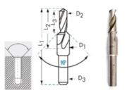 Сверло М10 (D11,0 и d8,5) 90° ц/х Р6АМ5