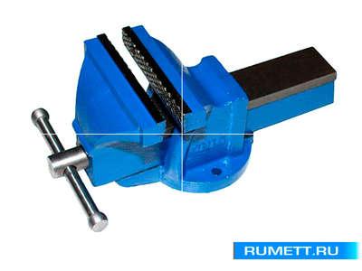 """Тиски Слесарные 100 мм (4"""") стальные неповоротные облегченные без наковальни (LT96304)"""