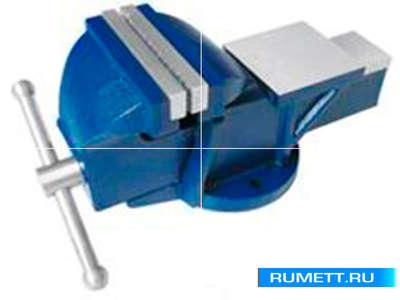 """Тиски Слесарные 100 мм (4"""") стальные неповоротные усиленные с наковальней (LT89104)"""