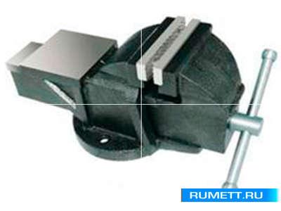 """Тиски Слесарные 125 мм (5"""") стальные неповоротные массивные с наковальней (LT83105)"""