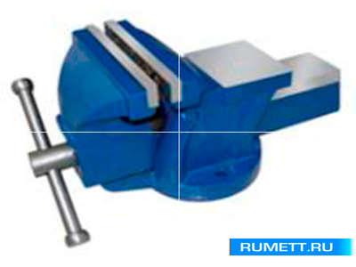 """Тиски Слесарные 150 мм (6"""") стальные неповоротные облегченные с наковальней (LT96106)"""