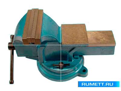 """Тиски Слесарные 150 мм (6"""") стальные поворотные с наковальней (LT98006)"""