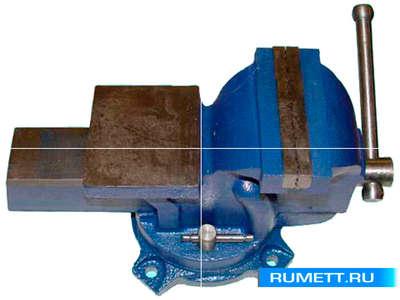 """Тиски Слесарные 150 мм (6"""") стальные поворотные усиленные с наковальней (LT89006)"""