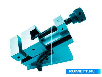 Тиски Станочные синусные 100мм прецизиозные стальные неповоротные ход 125мм и перп.0,005/100 HRС 58-62