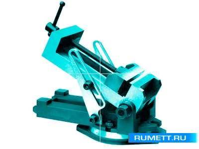 Тиски Станочные синусные 160мм стальные поворотные ход 180мм (ZX160)