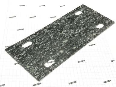 Паронитовая прокладка 90x210 мм c четырьмя овальными отверстиями