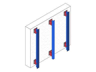 Вертикальная система вентилируемого фасада оцинкованная сталь