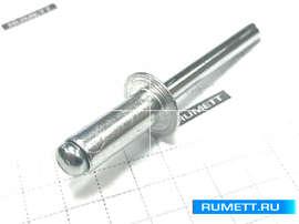 Заклёпка вытяжная 6,4х16 алюминий/сталь