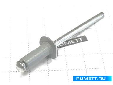 Заклёпка вытяжная 4х10 алюминий/сталь RAL 7001 (серебристо-серый)
