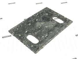 Паронитовая прокладка 60x90 мм c двумя овальными отверстиями