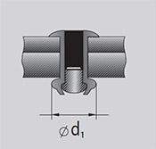 Диаметр развальцовки заклёпки A2/A2