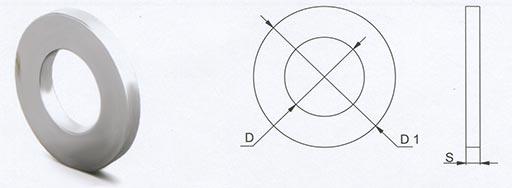 Шайба с узкими полями DIN 125
