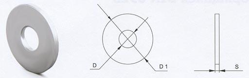 Шайба усиленная с широкими полями DIN 9021