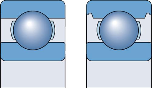 Базовая конструкция открытых радиальных шариковых подшипников